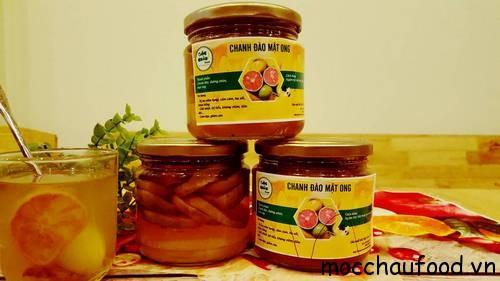 chanh đào ngâm mật ong Mộc Châu phòng và chữa ho hiệu quả