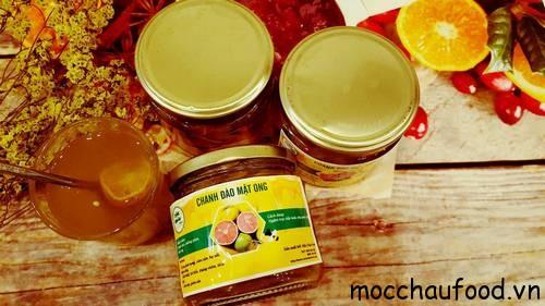 Chanh đào ngâm mật ong Mộc Châu chữa ho rất hiệu quả