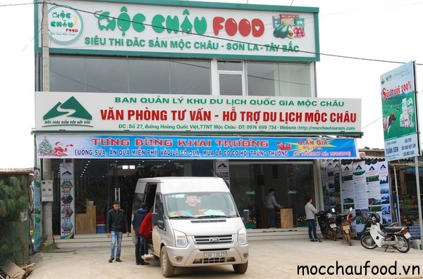 Đi du lịch Mộc Châu, nhớ ghé siêu thị đặc sản mộc châu Food