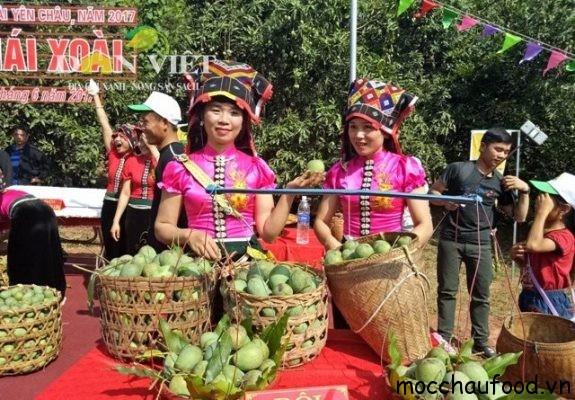 giới thiệu xoài yên châu trong lễ hội hái xoài Yên Châu tổ chức tháng 6 hàng năm