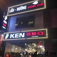 Nhà hàng Ken BBQ Mộc Châu có vị trí thuận lợi, không gian rộng rãi với sức chứa khoảng 200 khách